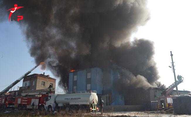 Tekirdağ'da Tekstil Fabrikasında Patlama, Kimyasal Alarm Verildi!