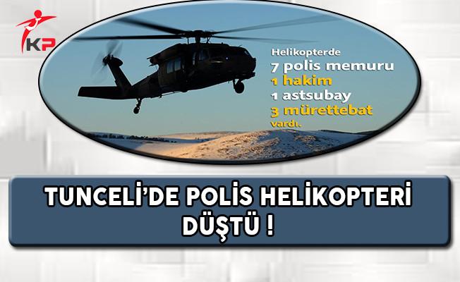 Tunceli'de Polis Helikopteri Düştü !