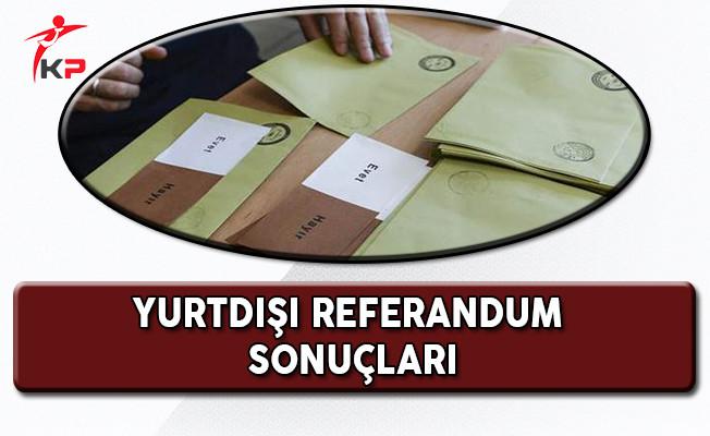 Ülke Ülke Yurtdışı Referandum Sonuçları!