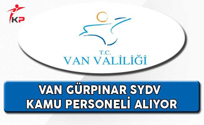 Van Gürpınar SYDV Kamu Personeli Alıyor