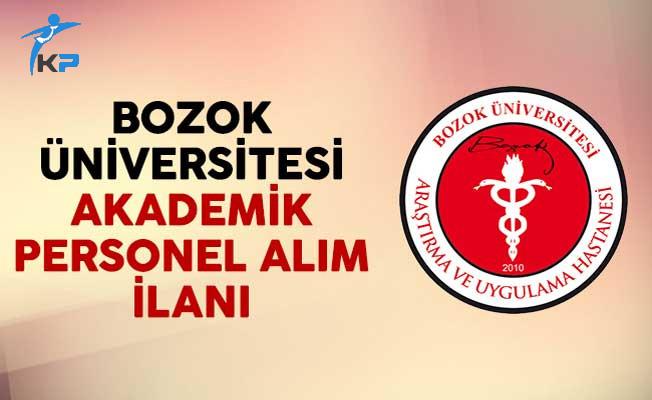 Bozok Üniversitesi Akademik Personel Alım İlanı Yayımladı