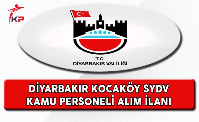 Diyarbakır Kocaköy SYDV Kamu Personeli Alıyor