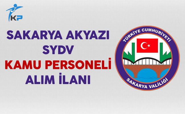 Sakarya Akyazı SYDV Personel Alım İlanı