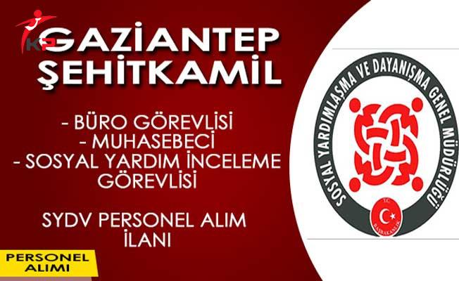 Gaziantep Şehitkamil SYDV Personel Alım İlanı
