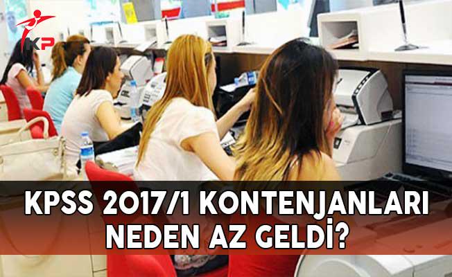 KPSS 2017/1 Kontenjanları Neden Az Geldi?