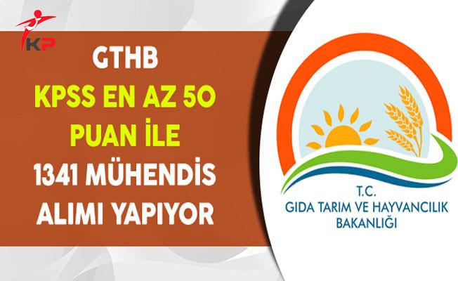 Tarım Bakanlığına KPSS En Az 50 Puan ile 1341 Mühendis Alınıyor