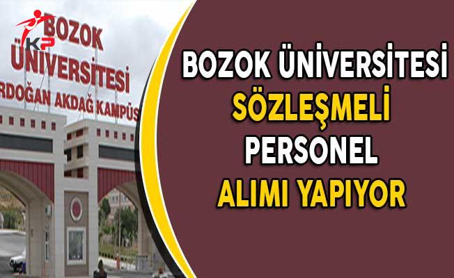 Bozok Üniversitesi Sözleşmeli Personel Alım İlanı Yayımladı