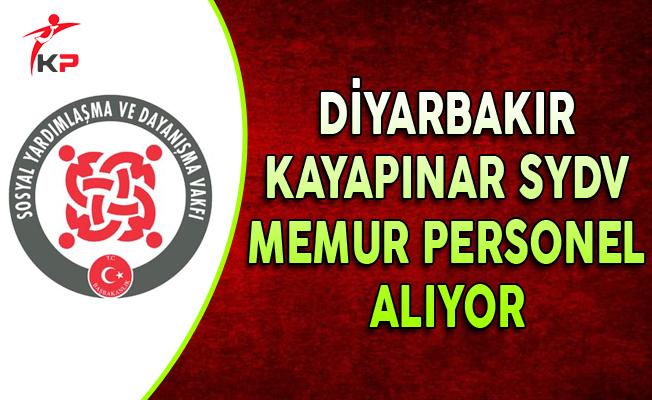 Diyarbakır Kayapınar SYDV Memur Personel Alımı Yapıyor