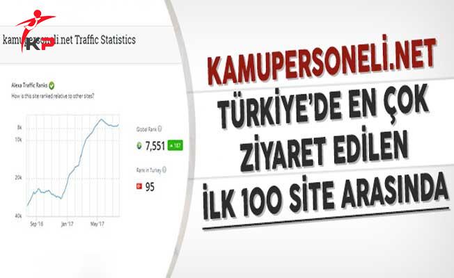 Kamupersoneli.net Türkiye'de En Çok Ziyaret Edilen İlk 100 Site Arasında