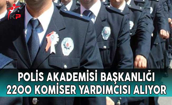 Polis Akademisi Başkanlığı Komiser Yardımcısı Alım İlanı Yayımladı