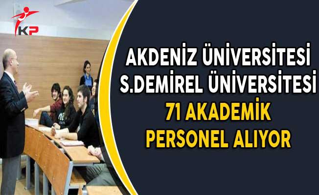 2 Üniversiteye 71 Akademik Personel Alımı Yapılıyor