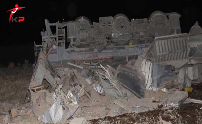 Elazığ'da Yük Treni Devrildi! Ölenler Var