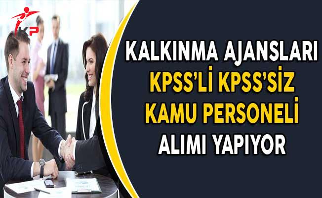Kalkınma Ajanslarına KPSS'li ve KPSS'siz Memur Personel Alımı Yapılıyor