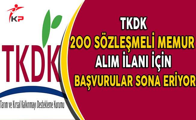 Tarım ve Kırsal Kalkınmayı Destekleme Kurumu (TKDK) 200 Personel Alımı İçin Başvuru Süresi Doluyor