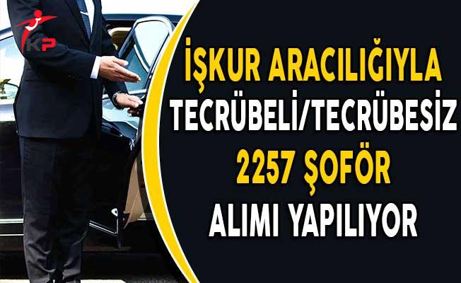 Türkiye Geneli Farklı Şehirlerde 2257 Şoför Alımı Yapılıyor!
