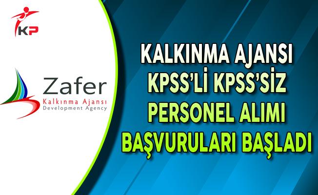 Zafer Kalkınma Ajansı KPSS'li ve KPSS Şartsız Personel Alımı Başvuruları Başladı
