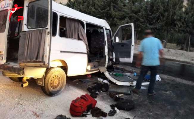 Çorum'da Minibüs Kazası: 1 Ölü, 14 Yaralı