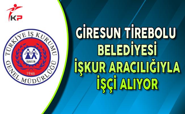 Giresun Tirebolu Belediyesi İşkur Aracılığıyla İşçi Alıyor