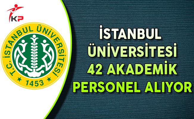 İstanbul Üniversitesi 42 Akademik Personel Alımı Yapıyor