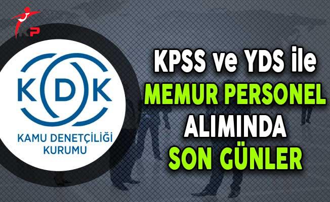 KDK KPSS ve YDS ile Memur Personel Alımı Başvurularında Son Günler