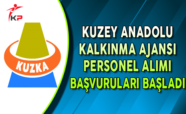Kuzey Anadolu Kalkınma Ajansı Personel Alımı Başvuruları Başladı