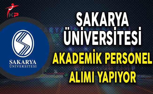 Sakarya Üniversitesi Akademik Personel Alım İlanı!
