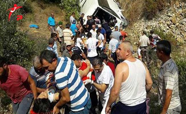 Tur Otobüsü Devrildi: Çok Sayıda Ölü ve Yaralı Var
