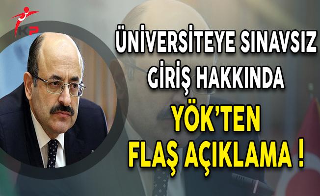 YÖK Başkanı Saraç: Üniversiteye Girişte Sınavsız Model Şu An İçin Mümkün Değil