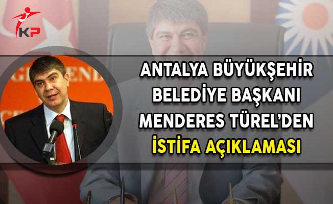 Antalya Büyükşehir Belediye Başkanı Türel: İstifa Etmem İçin Cumhurbaşkanı Erdoğan'ın İma Etmesi Yeter!