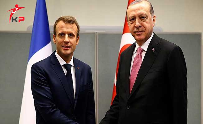 Cumhurbaşkanı Erdoğan Fransa Cumhurbaşkanı İle Telefon Görüşmesi Yaptı