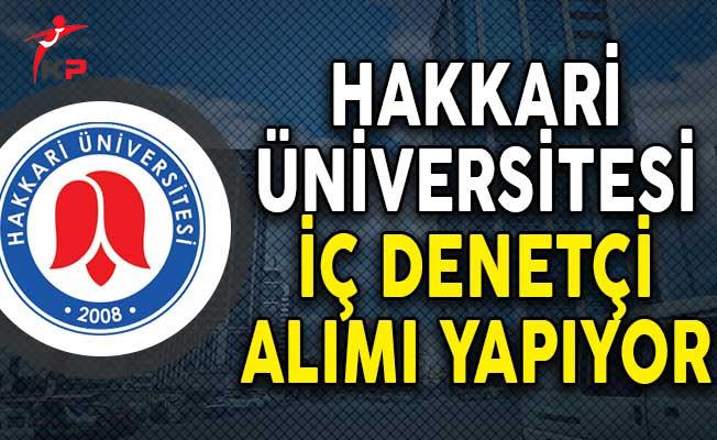 Hakkari Üniversitesi İç Denetçi Alım ilanı!