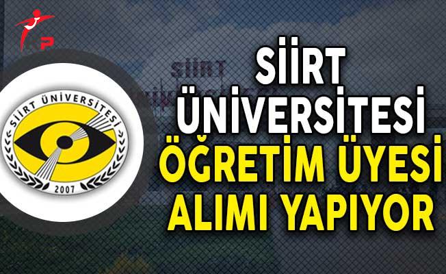 Siirt Üniversitesi Öğretim Üyesi Alım İlanı!