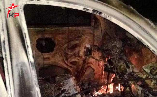 SON DAKİKA... PKK'lı Teröristler AK Partili İlçe Başkanın Aracını Yaktılar!