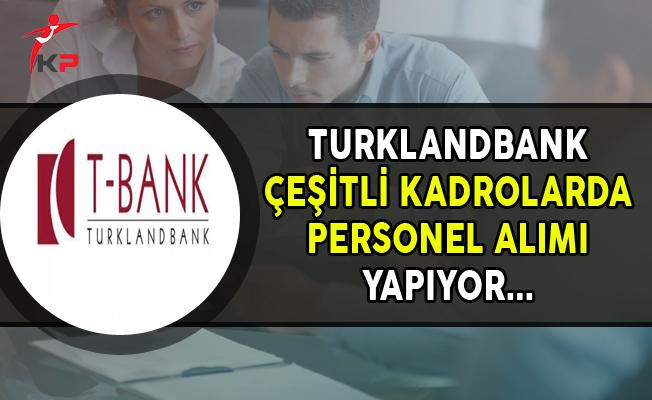 Turklandbank Çeşitli Kadrolarda Personel Alımları Yapıyor