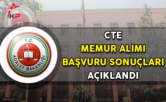 Adalet Bakanlığı CTE Personel Alımı Başvuru Sonuçları Açıklandı (Bakırköy Komisyonu)