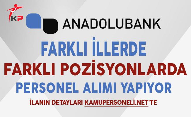Anadolubank Kasım Ayı Personel Alım İlanı