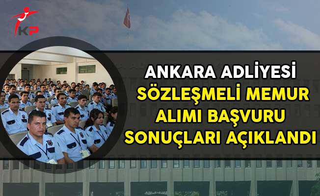 Ankara Adliyesi CTE Personel Alımı Başvuru Sonuçlarını Açıkladı!