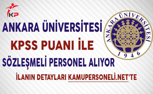 Ankara Üniversitesi 66 Memur Personel Alımında Son Gün !