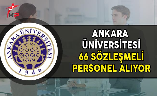Ankara Üniversitesi 66 Sözleşmeli Personel Alımı Yapıyor