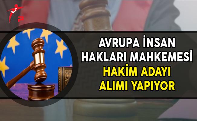 Avrupa İnsan Hakları Mahkemesine Hakim Adayı Alınıyor
