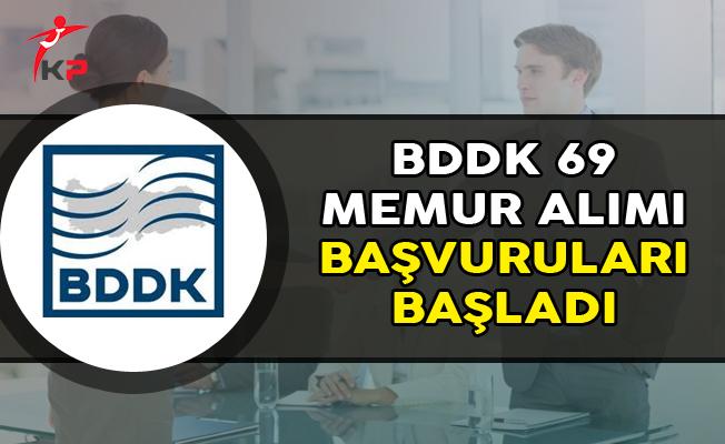 BDDK 69 Memur Alımı Başvuruları Başladı
