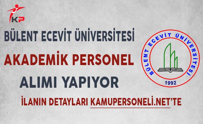 Bülent Ecevit Üniversitesi Akademik Personel Alımı Yapıyor