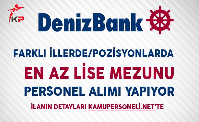 Denizbank Kasım Ayı Personel Alım İlanı