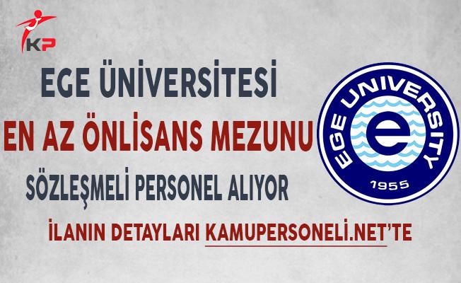 Ege Üniversitesi Sözleşmeli Personel Alımı Yapıyor