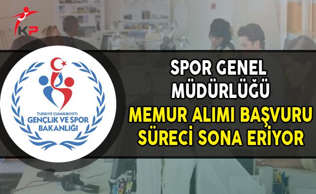 GSP Spor Genel Müdürlüğü Memur Alımı Başvurularında Son Gün