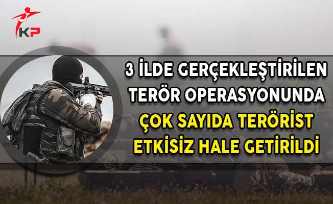 Hakkari Tunceli ve Şırnak'ta PKK Operasyonu! Çok Sayıda Terörist Etkisiz Hale Getirildi