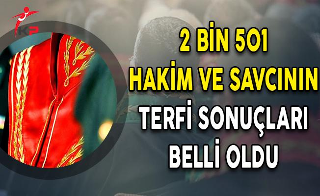 HSK 2 Bin 501 Hakim ve Savcının Terfi Sonuçlarını Açıkladı