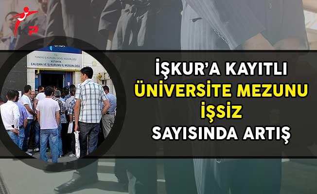 İşkur'da Kayıtlı Üniversite Mezunu İşsiz Sayısında Artış!