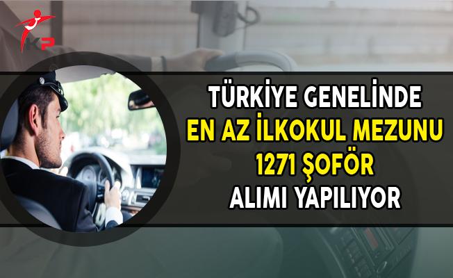 İşkur ile En Az İlkokul Mezunu 1271 Şoför Alınıyor (Türkiye Geneli)
