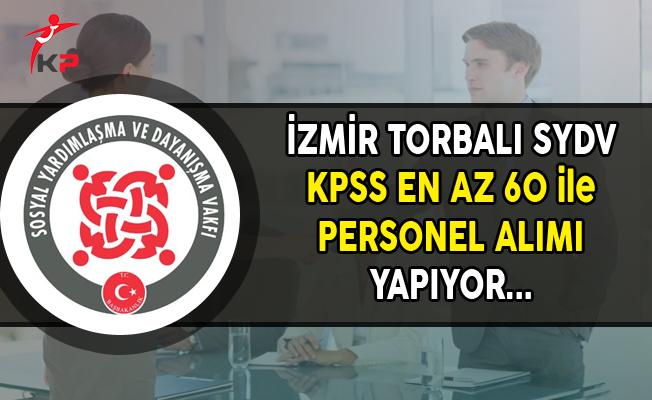 İzmir Torbalı SYDV Personel Alımı Yapıyor